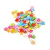 Generic Random Color 100Pcs Star Pattern 10mm DIY Buttons Sewing Clothes Button
