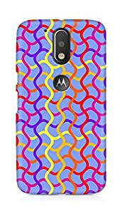 Amez designer printed 3d premium high quality back case cover for Motorola Moto G4 (Retro Pattern6)