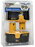 Ryobi P101 18-Volt One Plus Ni-Cd Batteries (2-Pack In Retail Package)