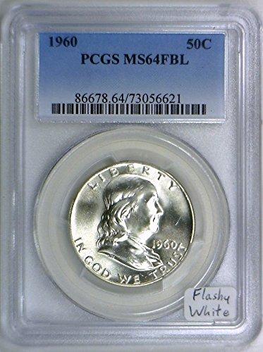 1960 No Mint Mark Franklin Half Dollar PCGS MS-64 FBL