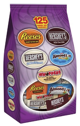 Hershey's Halloween Snack Size Candy Assortment, 125-Piece