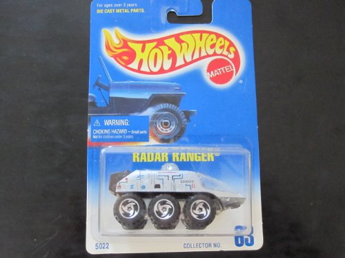 Radar Ranger Hot Wheels #63 Sawblade Wheels Gray Radar Blue/white Card - 1