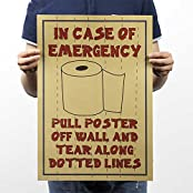 Best Funny Poster For Washroom Door. Paper Plane Design High Quality Paper Self Sticking Posters And Fan Art....