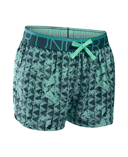 Under Armour Girls' Printed Play Up Shorts, Green Breeze (958), Youth X-Small
