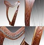 Keltische Harfe 27 Saiten mit Halbtonklappen