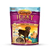 Zukes Jerky Naturals Healthy Grain Free Treats for Dogs, Tender Turkey Recipe, 6-Ounce