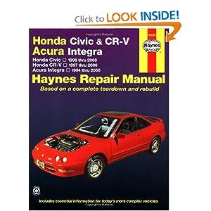 Honda Civic 1996-2000, Honda CR-V 1997-2000 & Acura Integra 1994-2000