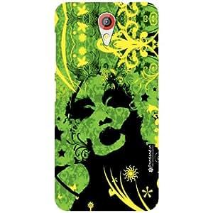 Printland Back Cover For HTC Desire 620G - green colored Designer Cases