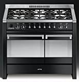 Smeg A2BL-8 Dual Fuel 100cm Range Cooker - Opera in Gloss Black