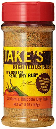 Jake'S Righteous Rubs Jake'S California Chipotle Magic Dry Rub, 5.0-Ounce (Pack Of 4)