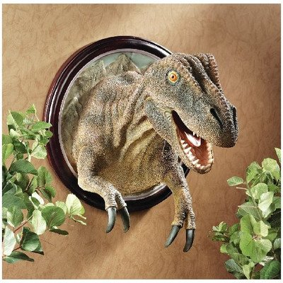 Design Toscano T-Rex Dinosaur Trophy Wall Sculpture