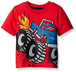 Gerber Graduates Boys Short Sleeve T-Shirt, Monster Truck, 18 Months