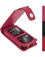 igadgitz Rose Étui Housse Cuir pour Sony Walkman NWZ-E384 avec Mousequeton et Prot. D'écran