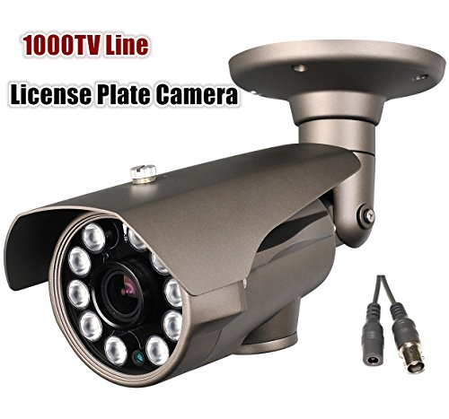 Hq-Cam® 1000Tv Lines High Resolution Camera 10Ir Large Leds Sony Effio 5-50Mm Vari-Focal Lens Cctv Day And Night License Plate Camera (Outdoor/Indoor)