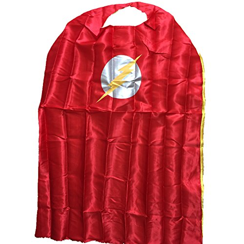 Starkma Adult Flash Superhero Stain Cape Costume Red