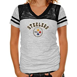 NFL Women's Pittsburgh Steelers the Coop Football Top In Burnout Team Colors from Touch
