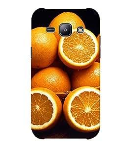 EPICCASE an orange Mobile Back Case Cover For Samsung J1 Ace (Designer Case)