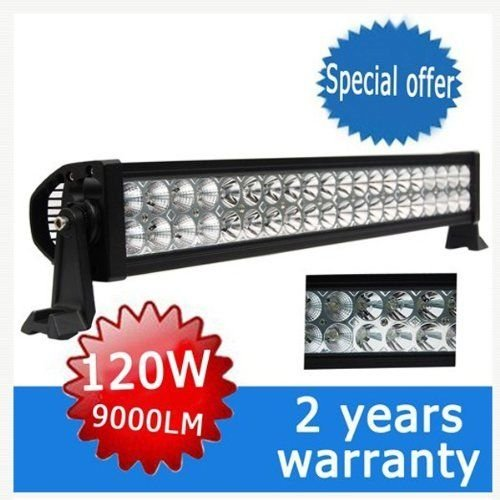 Ediors 24 Inch Led Light Bar Flood Spot Combo Beam-3W Cree Led-120W-9000 Lumen Waterproof Off-Road Work Fog Driving Light 4X4 Bumper Rock 4Wd Atv, Ute, Jeep Cabin, Boat, Suv, Truck, Car, Atv