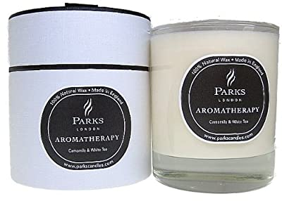 Parks Aromatherapy Natural Wax Candle Camomile White Tea 235g Giftboxed
