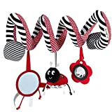 Hengsong Baby Kids Funny Toys Spiral Activity Stroller Car Seat Cot Lathe Hanging Gifts