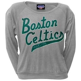 Boston Celtics - Ladies Athletic Logo Juniors Sweatshirt by Old Glory