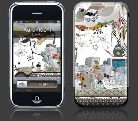 Apple iPhone Premium Vinyl Skin - Kurumachi (GelaSkins Brand) Made in Canada