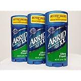 Arrid Xx Ultra Fresh, Extra Extra Dry, Solid Antiperspirant Deodorant, 2.6 Oz. (Pack Of 3)