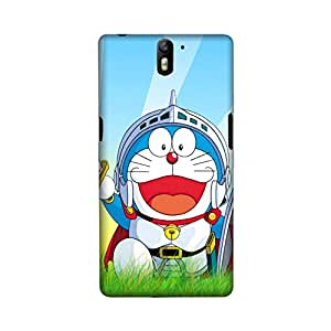 OnePlus One Perfect fit Matte finishing Doremon Cartoon Mobile Backcover designed by Aaranis(Multicolor)