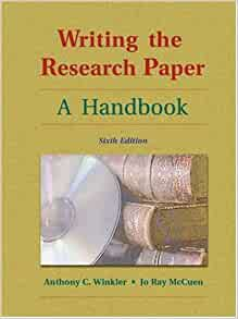 writing the research paper a handbook 6th edition American psychological association  system as described in the 6th edition of the publication  the sources you've used in writing your paper.