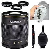 Digitalmate 500mm f 8 HD Reflex Mirror Telephoto Lens with Microfiber Cloth for Canon EOS 70D - 60D - 60Da - 50D - 1Ds - 7D - 6D - 5D - 5DS - Rebel T6s - T6i - T5i - T5 - T4i - T3i - T3 and SL1 Digital SLR Cameras