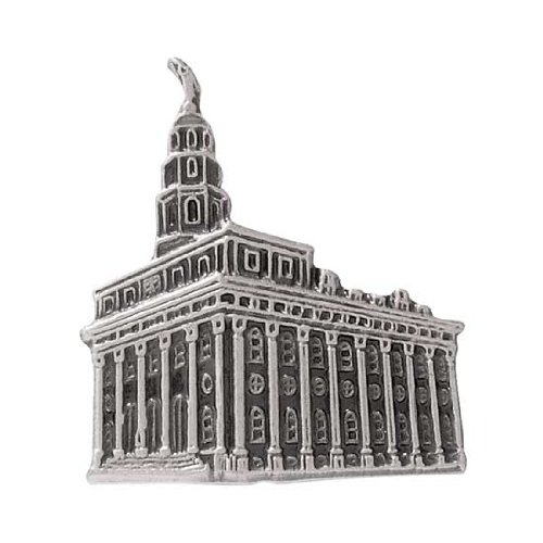 LDS Mens Antiqued Silver Steel Nauvoo Temple Tie Tac / Tie Pin for Boys - LDS Tie Tac, LDS Tie Pin, Missionary Gift