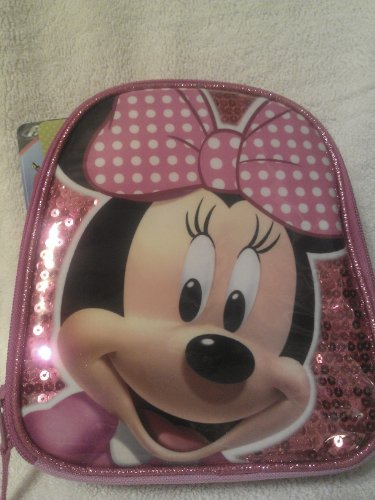 1 X Licensed Minnie Fully Insulated Lunch Bag Expandable 3.5' to 5' - Pink