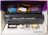 Purple Cows Hot and Cold Laminator with Bonus 100 Laminating Pouches Starter Kit