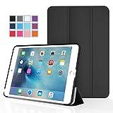iPad Mini 4 ケース - ATiC Apple iPad Mini 4 (2015) 7.9 インチ iOS タブレット専用開閉式三つ折薄型スタンドケース。BLACK (オートスリープ機能付き) (オートスリープ機能付き) (iPad Mini 3/2/1に適応ない)