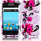 Bundle Accessory for Samsung Galaxy Rush M830 Boost Mobile Phone - Purple Flower With Lily Designer Protective Hard Case Cover + SogaWireless Stylus Pen [SWC8]