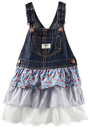OshKosh B'gosh Triple Tiered Jumper (Baby) - Denim-12 Months