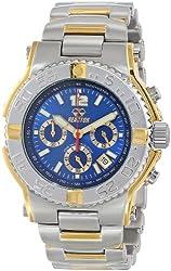 REACTOR Men's 75103 Critical Mass Chronograph Blue Dial Two-Tone Watch