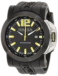 Haurex Italy Men's 1N370UNY San Marco Black Aluminum Rubber Date Watch