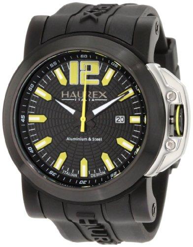 Haurex Italy San Marco 1N370UNY - Reloj analógico de cuarzo para hombre, correa de goma color negro