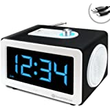 GOgroove LED Alarm Clock MP3 Stereo 6W Speaker SonaVERSE CLK with AUX-In, and USB or SD Card Port - Works With Apple iPod , Samsung Galaxy Player , PONO , Beats Music and More! **Includes Micro-USB Cable**