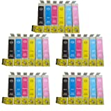 30 Compatible Printer Ink Cartridges for Epson Stylus Photo 1500W 1400 *5 Full Sets*