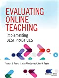 img - for Evaluating Online Teaching: Implementing Best Practices book / textbook / text book