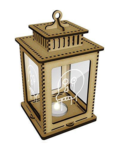 Bleeding Skull Clear Candle Lantern / Tea Light Holder (LT00005305)