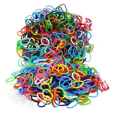 Fashion Loom Refill Bands Assorted Colors - 1,100 Pieces - 1