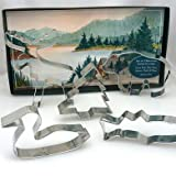 Ann Clark Cookie Cutters Mountain Lake Gift Set 5 Pieces Tin Plated Steel