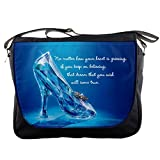 NEW Princess Cinderella 2015 Glass Slipper Shoes with Quote Shoulder Messenger Bag Satchel for School College Work Collectible