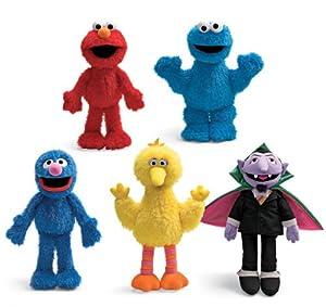 Sesame Street Elmo, Grover, Big Bird, Cookie Monster, Count