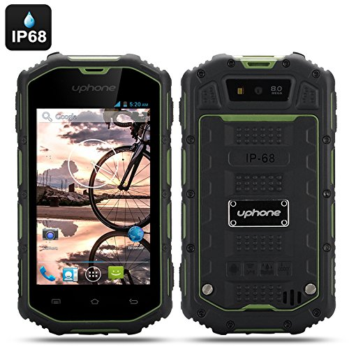 Uphone U5A Rugged Phone - Android 4.2 Os, Dual Core Cpu, Ip68 Waterproof + Dust Proof Rating, Shockproof (Green)