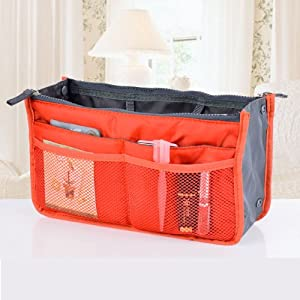 Click Here For Cheap Amazon.com: Fusion Purse Insert / Organizer/ Handbag Make Up Cosmetic Travel Multipurpose Bag In Bag  For Sale