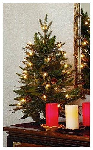 GKI Bethlehem Lighting 2 Foot Green River Spruce Christmas Tree Pre Lit With